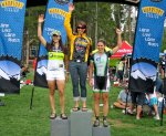 Breck 68 podium with Sonya Looney and Sonya Bugbee