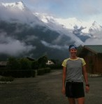 Chamonix run with Laurent