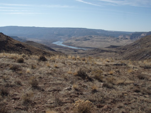 Looking down Ruby-Horsethief Canyon from Salt Creek on the Kokpelli Trail