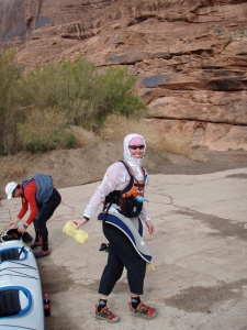 My paddling 'burkha' - ready for the Muslim women in Abu Dabhi