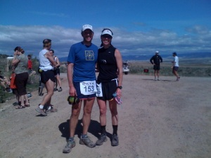 Todd & I at the finish.  I think was his fourth time finishing this race.