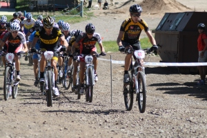 Len Zanni leading Lance Armstrong & Jay Henry up the first climb in Snowmass a few weeks ago.