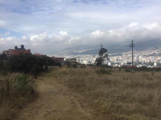 View of Quito from the trails