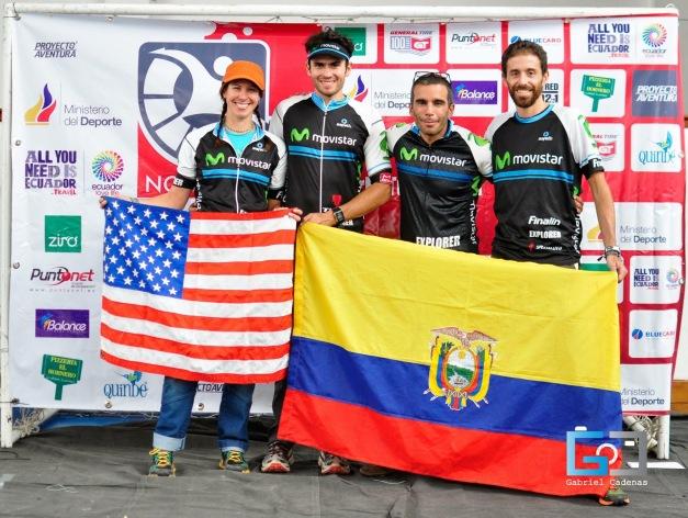 Pre-race photo: Sari, Gonzalo, Patricio & Martin